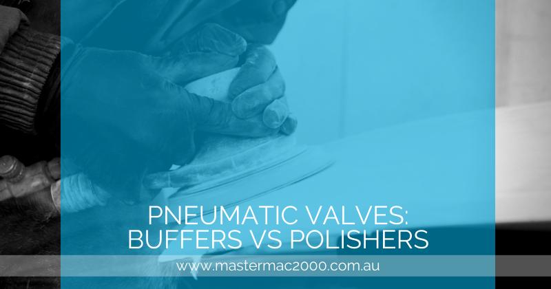 worker using pneumatic polisher